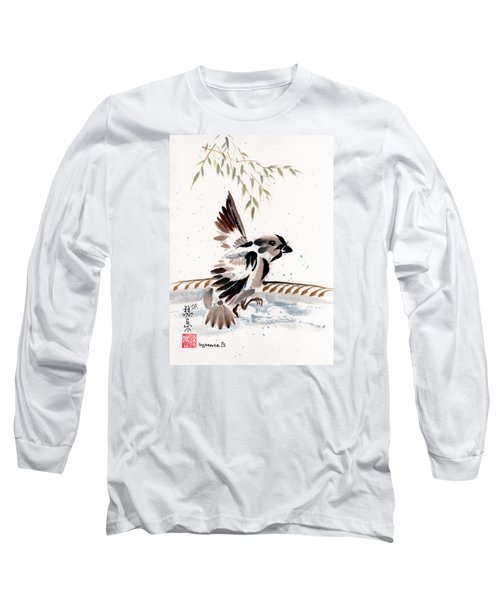Long Sleeve T-Shirt featuring the painting Water Wings by Bill Searle