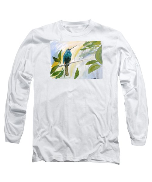 Watercolor - Jacamar In The Rainforest Long Sleeve T-Shirt