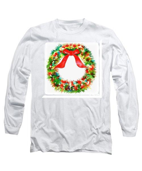 Watercolor Wreath Long Sleeve T-Shirt