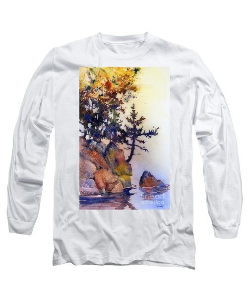 Water's Edge Long Sleeve T-Shirt by Teresa Ascone