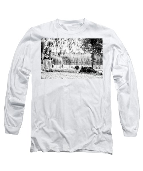 We Live As We Dream Long Sleeve T-Shirt by Traven Milovich