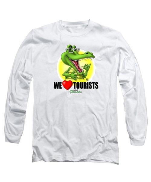 We Love Tourists Gator Long Sleeve T-Shirt