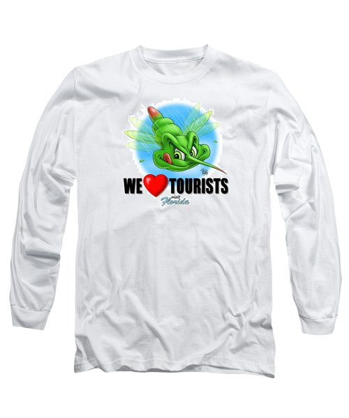 We Love Tourists Mosquito Long Sleeve T-Shirt by Scott Ross