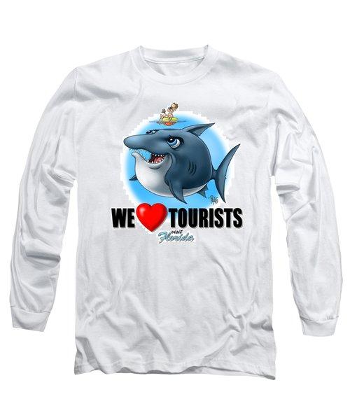 We Love Tourists Shark Long Sleeve T-Shirt