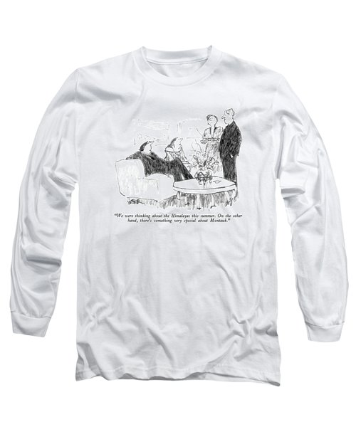 We Were Thinking About The Himalayas This Summer Long Sleeve T-Shirt