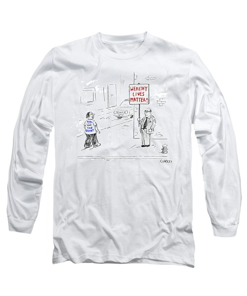 Wealthy Lives Matter Long Sleeve T-Shirt