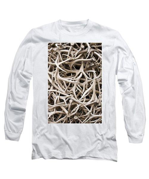 Weathered Elk Antlers Long Sleeve T-Shirt