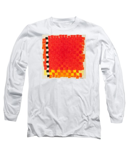 Long Sleeve T-Shirt featuring the painting Weave #2 Sunset Weave by Thomas Gronowski