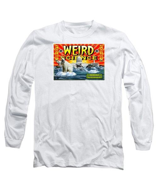 Long Sleeve T-Shirt featuring the digital art Weird Science by Scott Ross