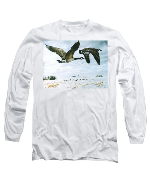 Long Sleeve T-Shirt featuring the painting Welcome Home by Craig T Burgwardt