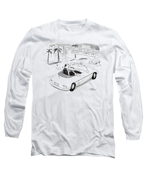 'welcome' To Hollywood 'net' Long Sleeve T-Shirt
