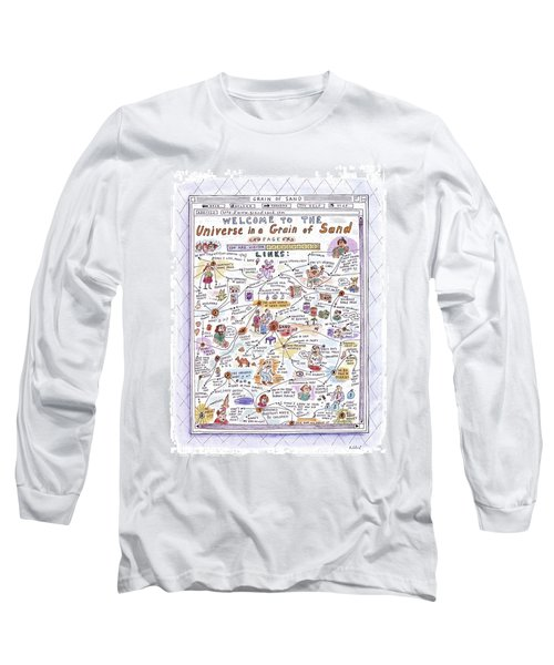 'welcome To The Universe In A Grain Of Sand' Long Sleeve T-Shirt