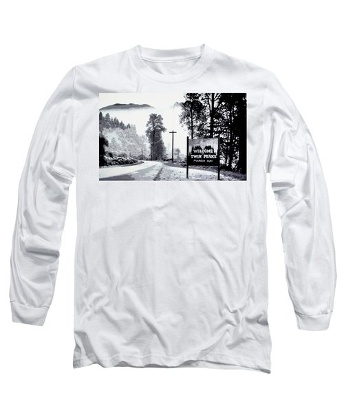 Long Sleeve T-Shirt featuring the painting Welcome To Twin Peaks by Luis Ludzska