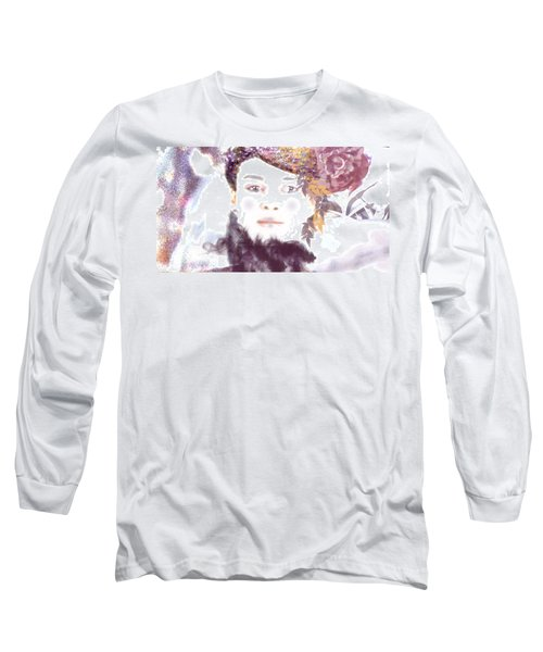 Long Sleeve T-Shirt featuring the digital art Wendy Waits by Kim Prowse