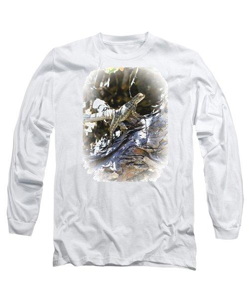 Western Fence Lizard Aka Blue-belly Lizard Long Sleeve T-Shirt