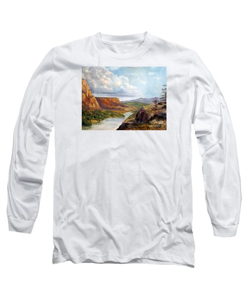 Western River Canyon Long Sleeve T-Shirt by Lee Piper