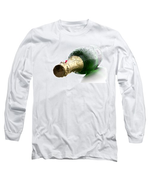 Wet Champagne Bottle Long Sleeve T-Shirt