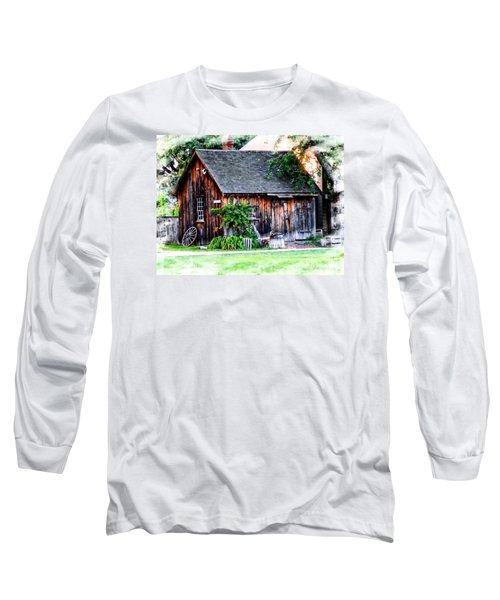 Wheel Shop Long Sleeve T-Shirt by Marcia Lee Jones
