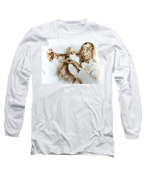Long Sleeve T-Shirt featuring the painting When You're Smilling by Laur Iduc