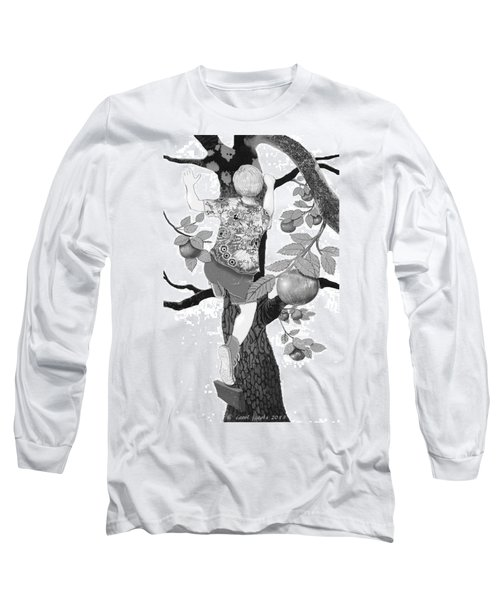 Long Sleeve T-Shirt featuring the digital art Where The Best Apples Are by Carol Jacobs