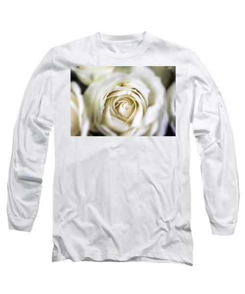 Whie Rose Softly Long Sleeve T-Shirt