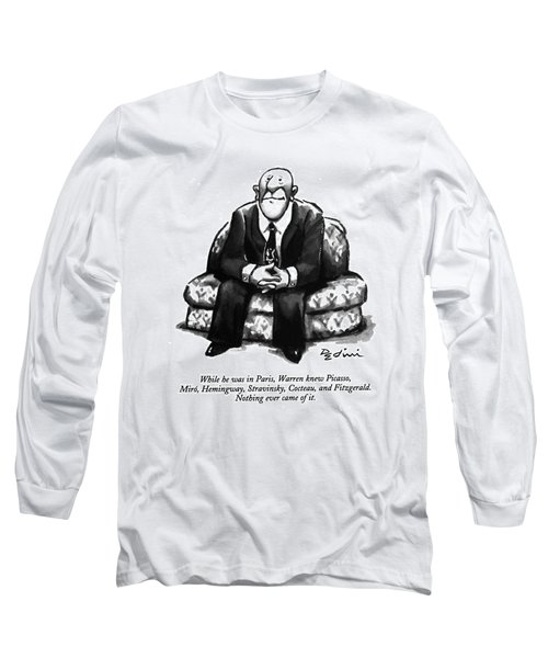 While He Was In Paris Long Sleeve T-Shirt