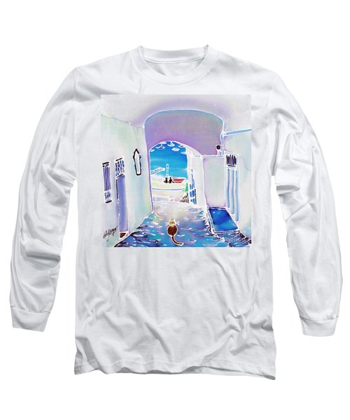 White And Blue 1 Long Sleeve T-Shirt