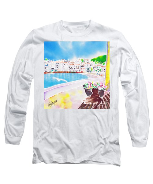 White And Blue 2 Long Sleeve T-Shirt