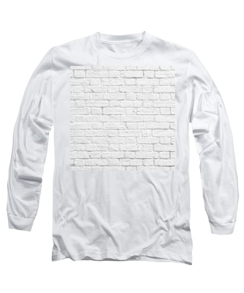 White Brick Wall Long Sleeve T-Shirt