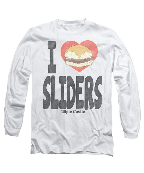 White Castle - I Heart Sliders Long Sleeve T-Shirt by Brand A
