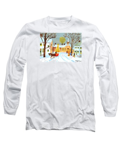 White Christmas Long Sleeve T-Shirt by Magdalena Frohnsdorff