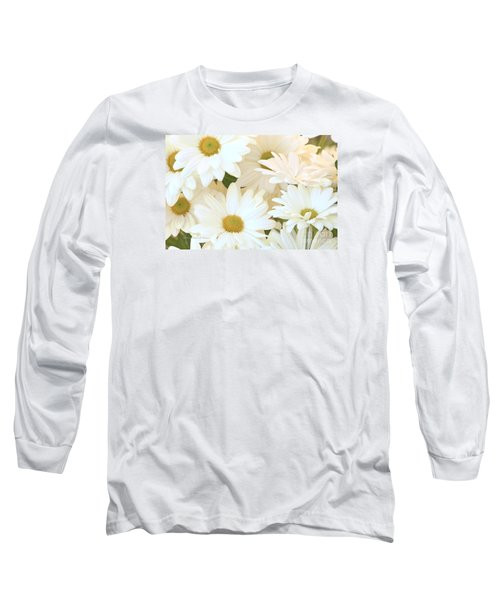 White Chrysanthemums Long Sleeve T-Shirt