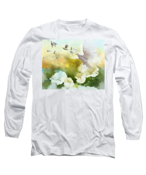 White Doves Long Sleeve T-Shirt