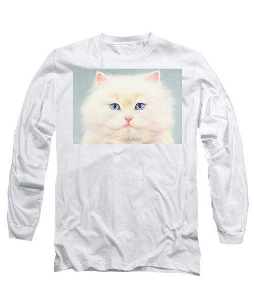 White Persian Long Sleeve T-Shirt