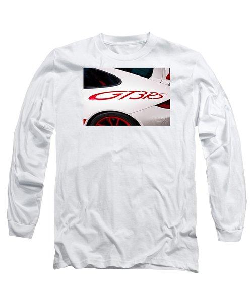 White Porsche Gt3rs - Rear Quarter Long Sleeve T-Shirt