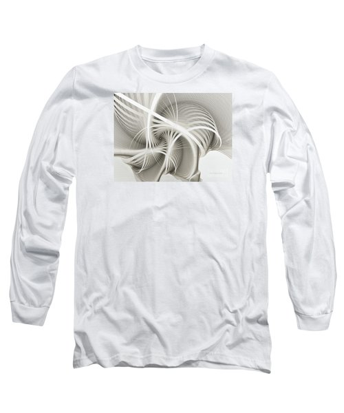 White Ribbons Spiral Long Sleeve T-Shirt