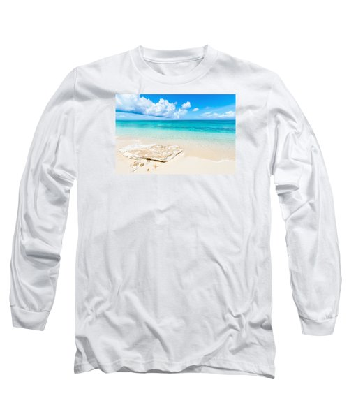 White Sand Long Sleeve T-Shirt by Chad Dutson