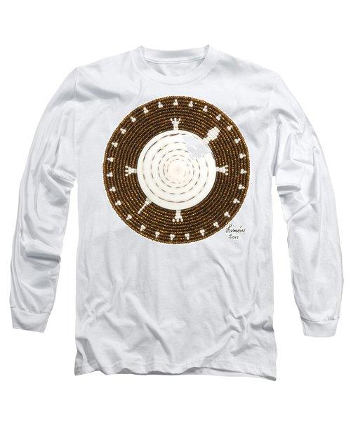 White Shell Long Sleeve T-Shirt