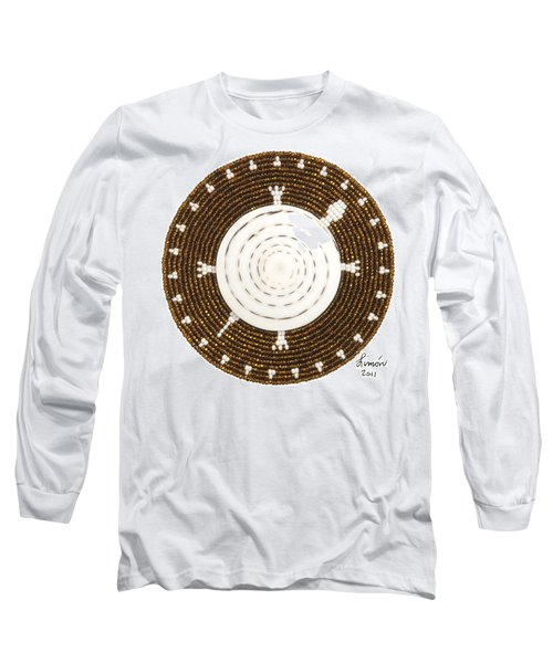 White Shell Long Sleeve T-Shirt