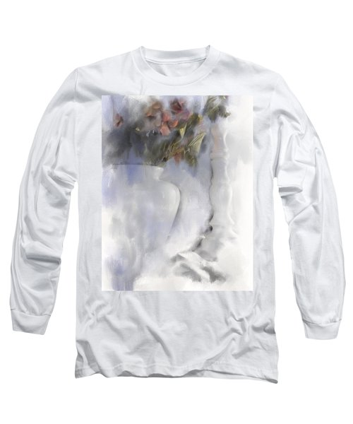 White Still Life Vase And Candlestick Long Sleeve T-Shirt