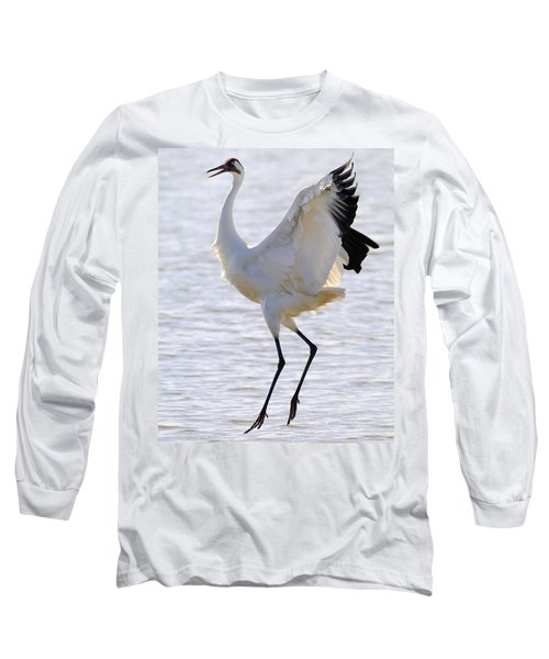 Whooping Crane - Whooping It Up Long Sleeve T-Shirt