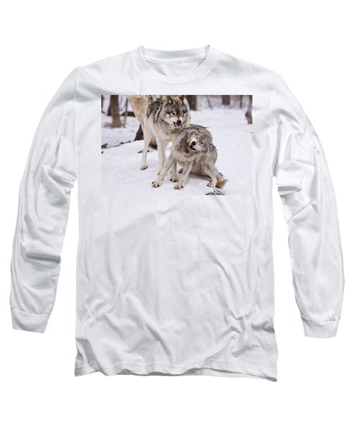 Long Sleeve T-Shirt featuring the photograph Who's The Boss by Wolves Only
