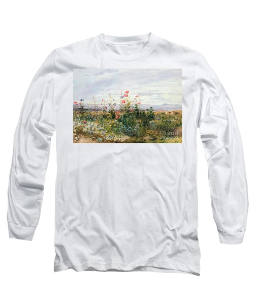 Wildflowers With A View Of Dublin Dunleary Long Sleeve T-Shirt