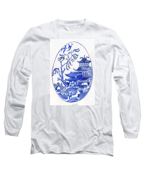 Willow Pattern Egg I Long Sleeve T-Shirt
