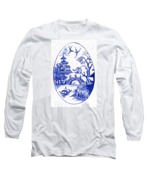 Willow Pattern Egg II Long Sleeve T-Shirt