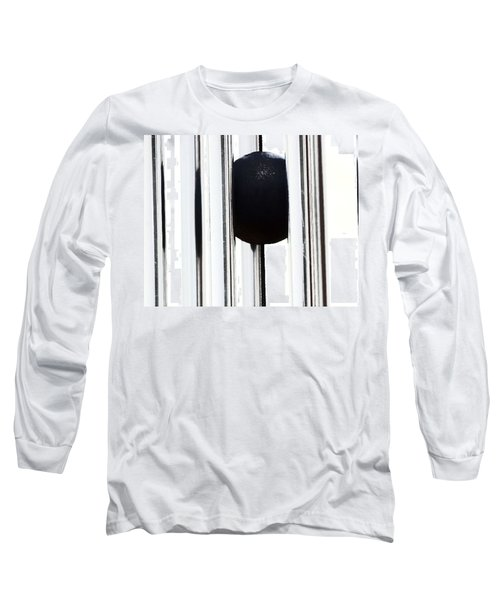 Wind Chime In Black And White Long Sleeve T-Shirt