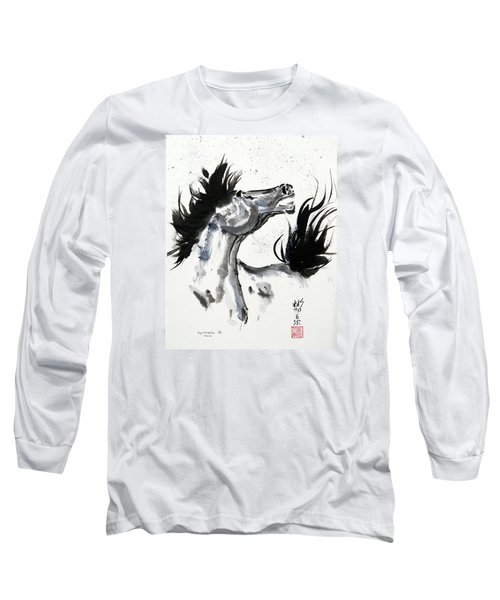 Long Sleeve T-Shirt featuring the painting Wind Fire by Bill Searle