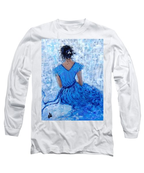 Long Sleeve T-Shirt featuring the painting Wind Of Hope.. by Cristina Mihailescu