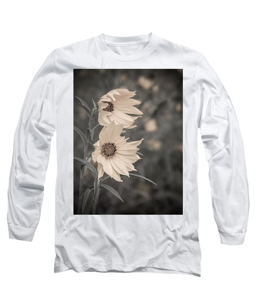 Windblown Wild Sunflowers Long Sleeve T-Shirt