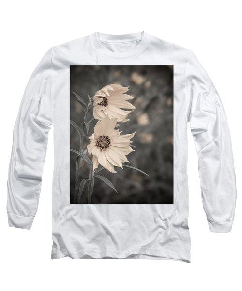 Windblown Wild Sunflowers Long Sleeve T-Shirt